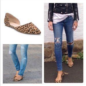 ✨HOST PICK✨ Vegan Suede Leopard Flats